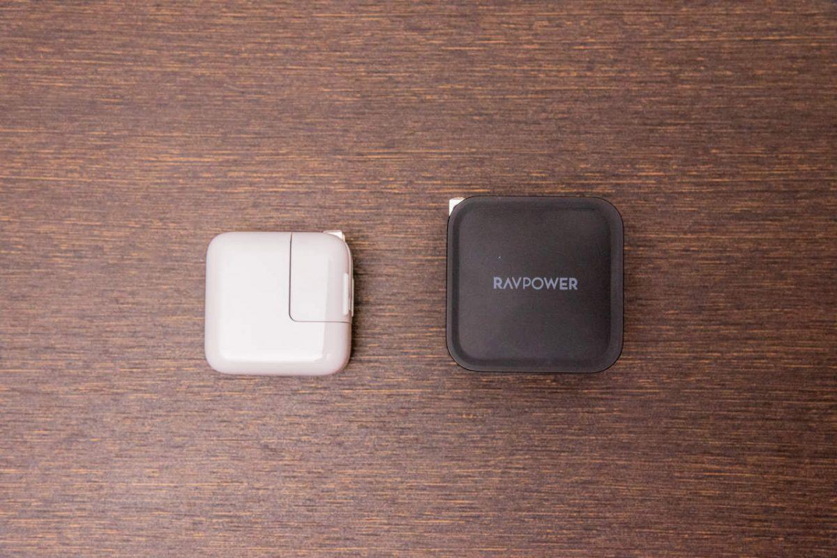 RP-PC133とiPad純正充電器の比較