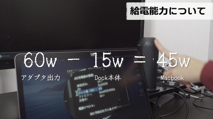 Anker PowerExpand 12in1 USB-C Dockの給電能力