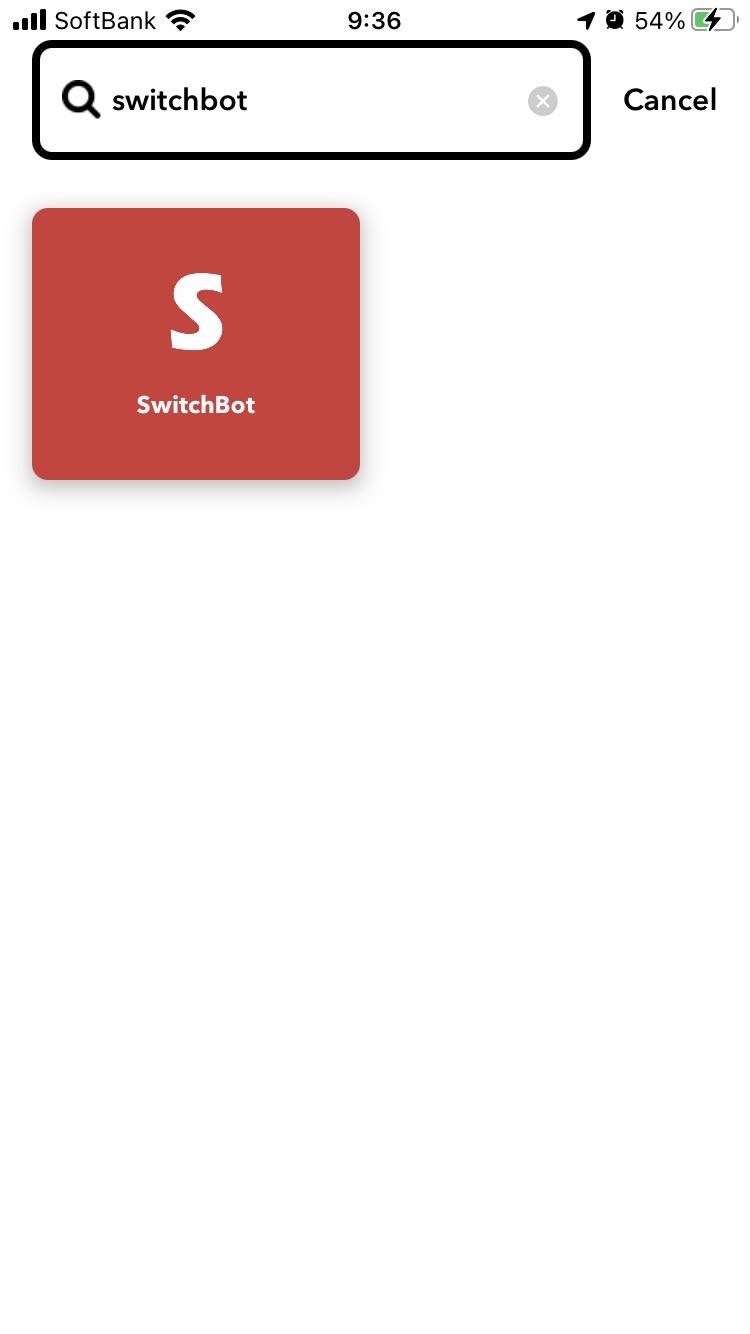 SwitchBotを指定